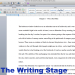 The Writing Stage