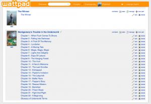 Wattpady - My Works Screen